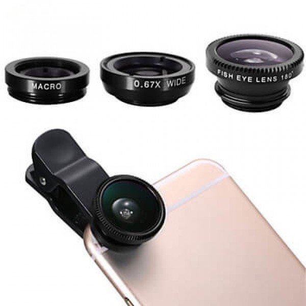 3 In 1 Universal Mobile Phone Camera Lens Clip